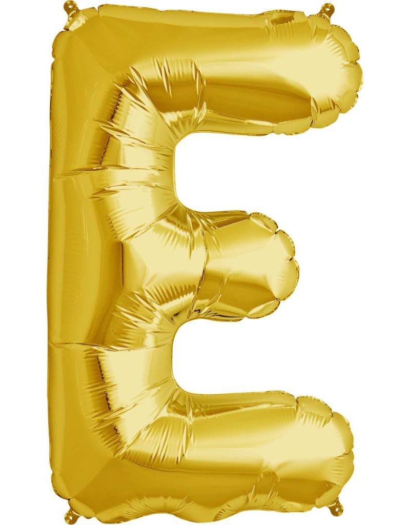 """34"""" Gold Foil E Balloon"""