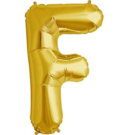 "34"" Gold Foil F Balloon"