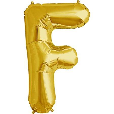 "34"" Gold Foil F Balloon"