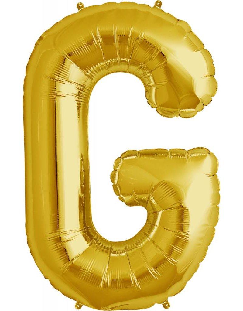"""34"""" Gold Foil G Balloon"""