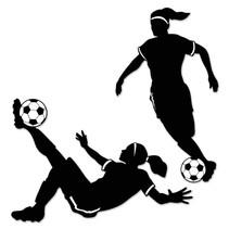 Girl Soccer Silhouettes