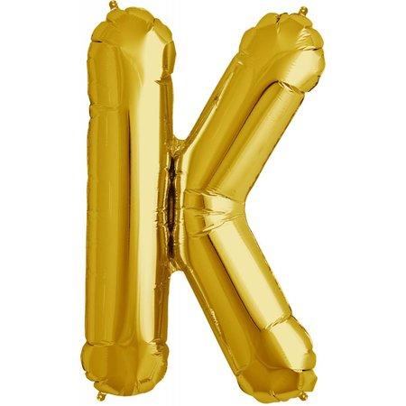"34"" Gold Foil K Balloon"