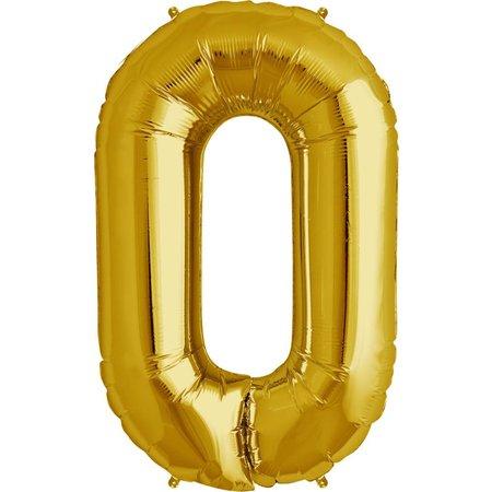 """34"""" Gold Foil O Balloon"""