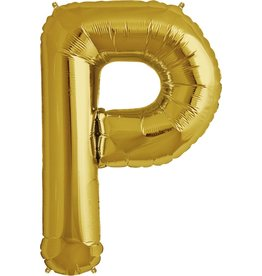 "34"" Gold Foil P Balloon"