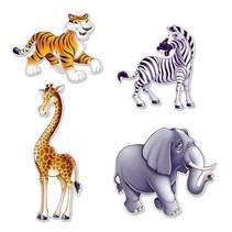 Jungle Animal Cutouts