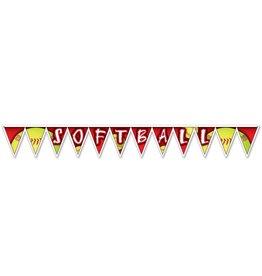 Softball Pennant Banner
