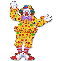 Circus Clown Jointed Cutout