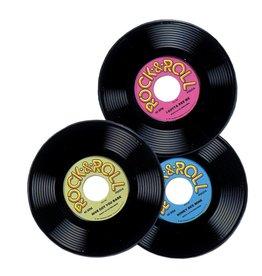 "Plastic Record 9"" 3pieces"