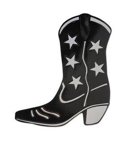 Cowboy Boot Cutout - Black