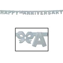 Anniversary Streamer - Silver