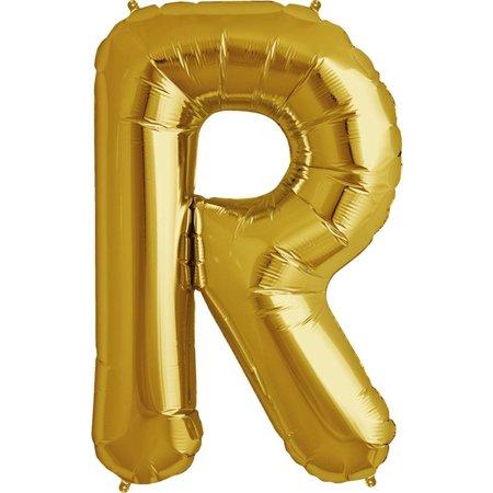 """34"""" Gold Foil R Balloon"""