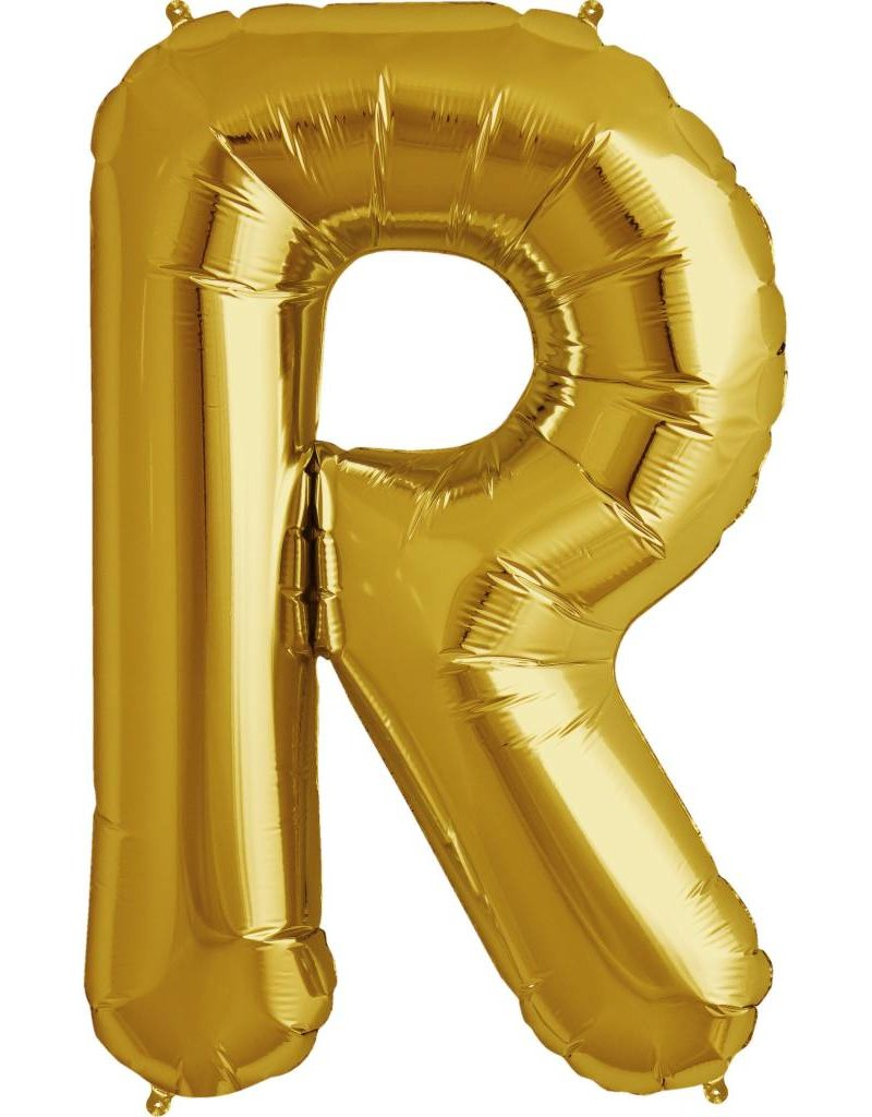 "34"" Gold Foil R Balloon"