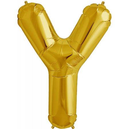 "34"" Gold Foil Y Balloon"