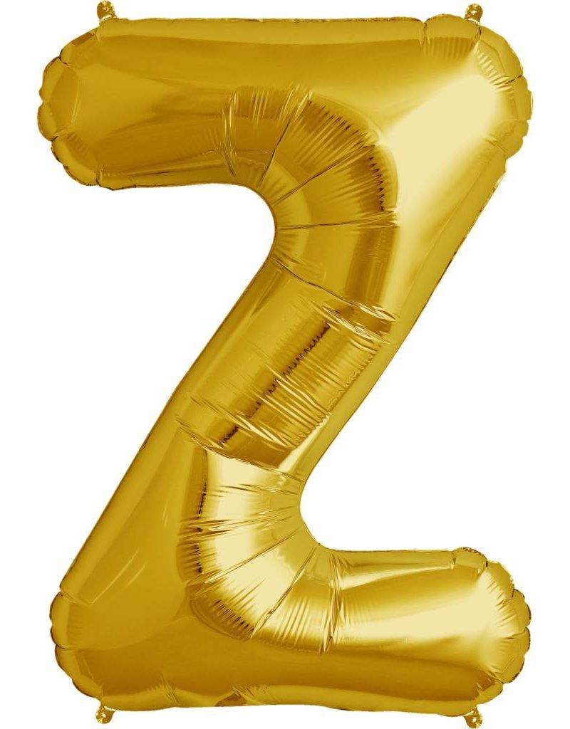 """34"""" Gold Foil Z Balloon"""