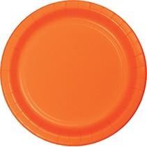 "9"" Round Plates Sunkissed Orange"