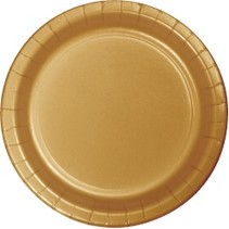 "9"" Round Plates Glittering Gold"