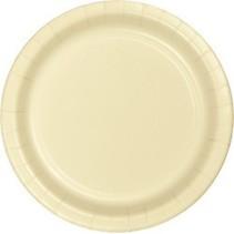 "9"" Round Plates Ivory"