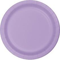 "9"" Round Plates Luscious Lavender"
