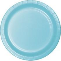 "9"" Round Plates Pastel Blue"
