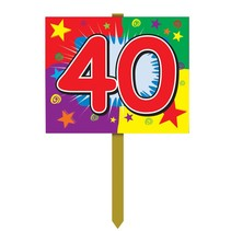 Happy 40th Birthday Sign