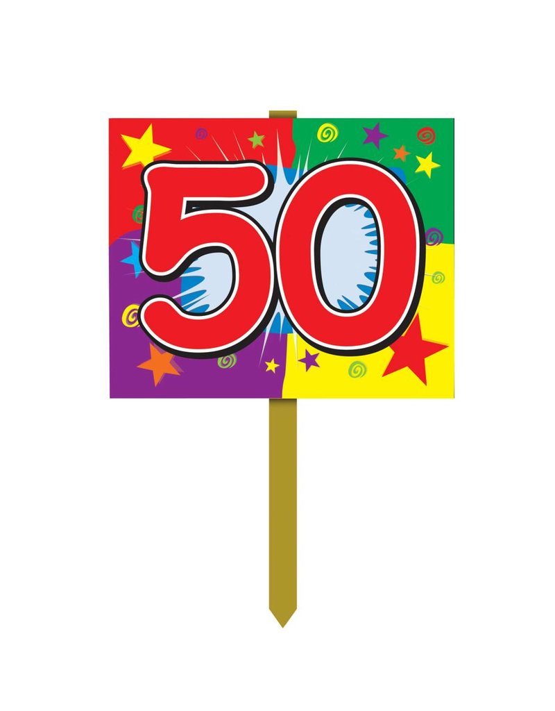 happy 50th birthday sign tribout s party bingo carnival