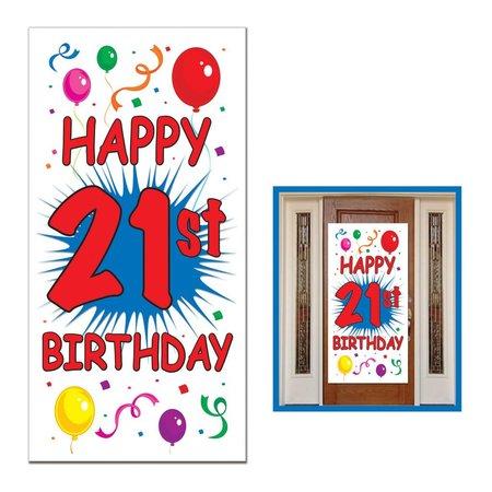 """21st Bidrthday Door Cover-30"""" x 60"""""""