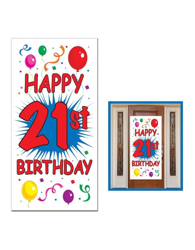 """21st Birthday Door Cover-30"""" x 60"""""""