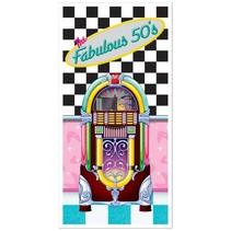 """Fabulous 50's Door Cover-30"""" x 5'"""
