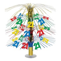 21ST Birthday Cascade Centerpiece- Multi Color