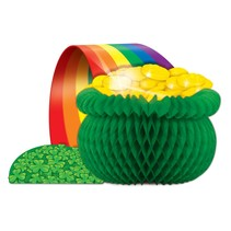 "Pot O' Gold Tissue Centerpiece-12.5"" x 7.5"""