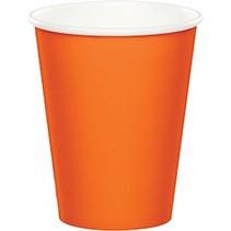 Paper Cups Sunkissed Orange
