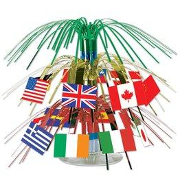 International Flag Mini Cascade Centerpiece