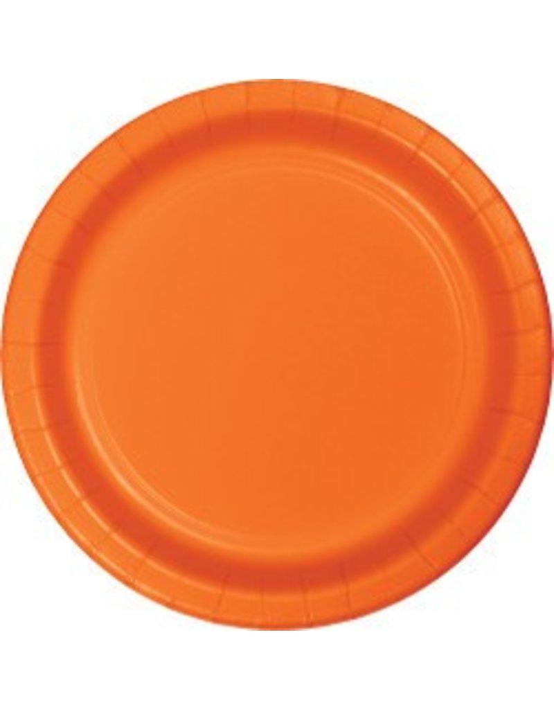 "7"" Round Plates Sunkissed Orange"