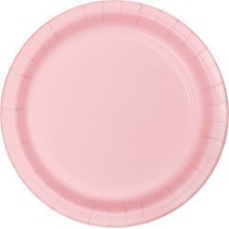 "7"" Round Plates  Classic Pink"