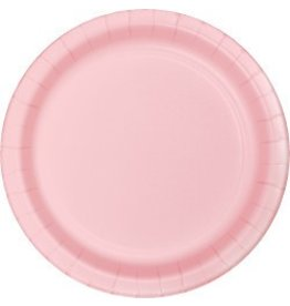 """7"""" Round Plates  Classic Pink"""
