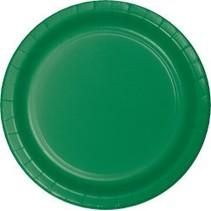 "7"" Round Plates  Emerald Green"