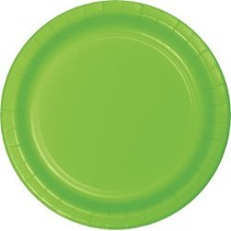 "7"" Round Plates  Fresh Lime"