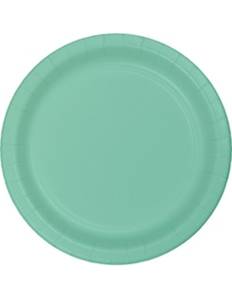 "7"" Round Plates  Fresh Mint"