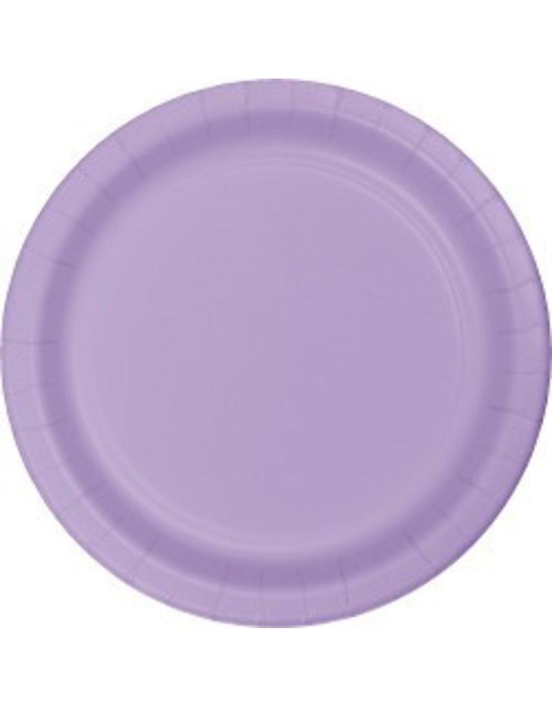 "7"" Round Plates  Luscious Lavender"