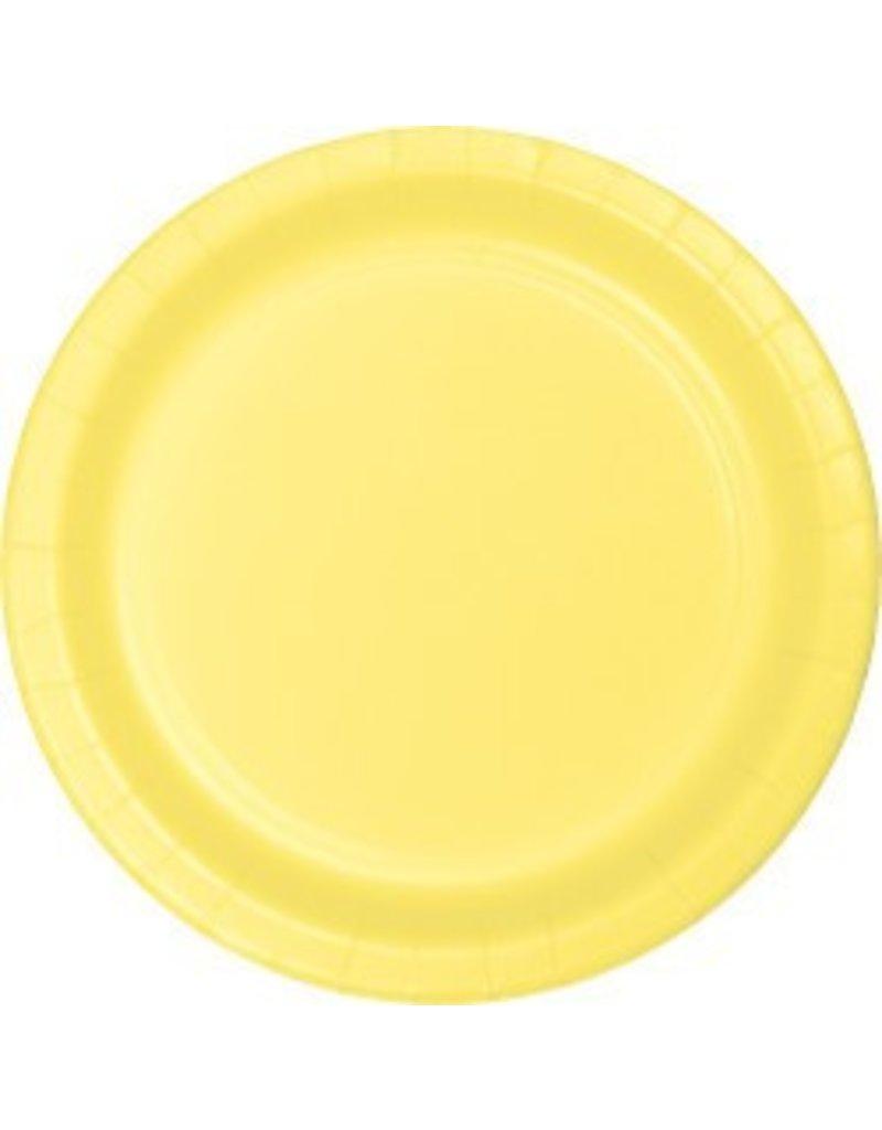 "7"" Round Plates  Mimosa Yellow"