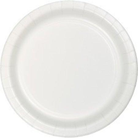 """7"""" Round Plates  White"""