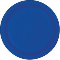 "7"" Round Plates  Cobalt"
