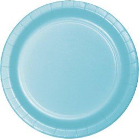 "7"" Round Plates  Pastel Blue"