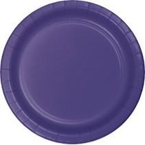 "7"" Round Plates  Purple"