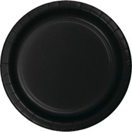 """7"""" Round Plates  Black Velvet"""