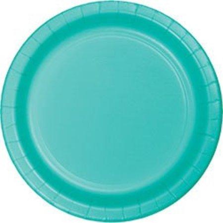 "7"" Round Plates  Teal Lagoon"