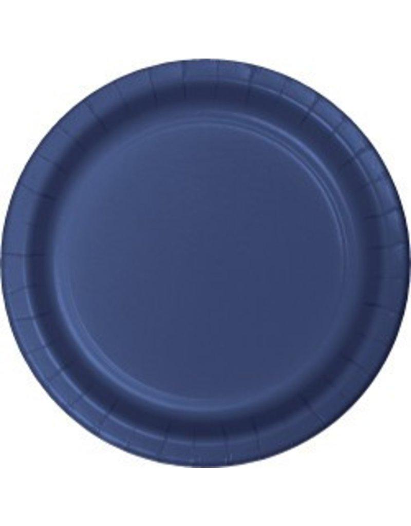 "7"" Round Plates  Navy"