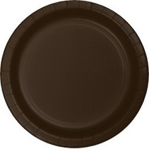 "7"" Round Plates  Chocolate Brown"