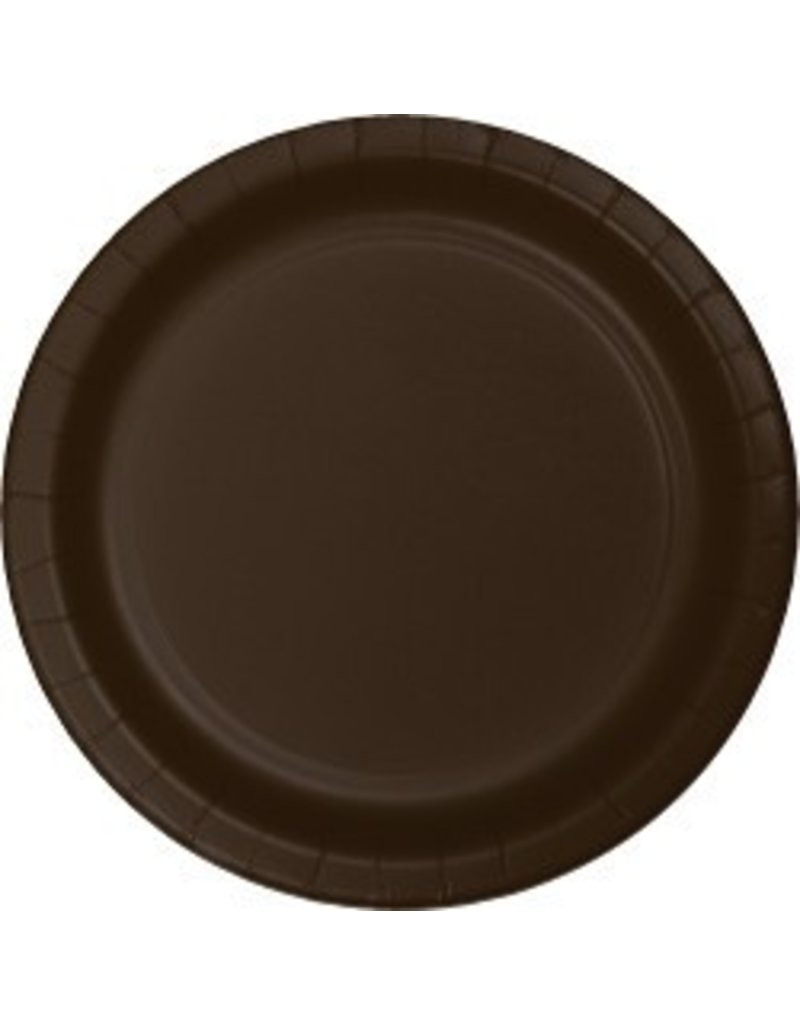 "7"" Round Plates  Chocolate Brown"
