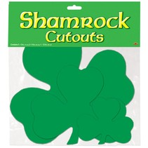 Shamrock Cutouts-9 Pieces